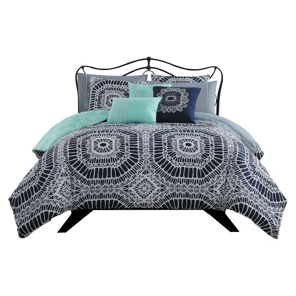 Avianna 10 Piece Reversible Comforter Set by Bungalow Rose