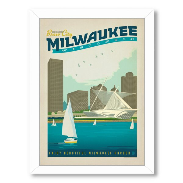 Milwaukee Framed Vintage Advertisement by East Urban Home