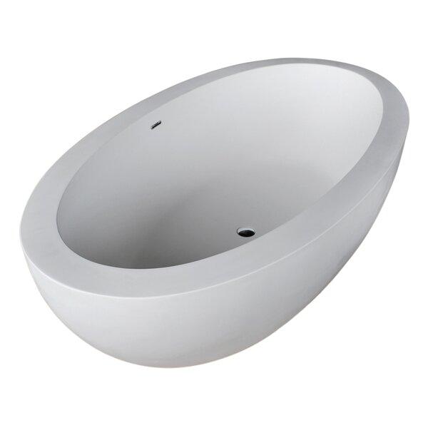 Lusso 75.5 x 40.5 Freestanding Soaking Bathtub by ANZZI