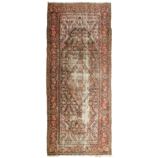 Lazarus Antique Hand-Knotted Wool Beige/Rust Area Rug