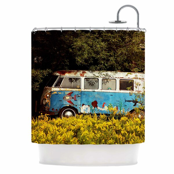 Angie Turner Hippie Bus Shower Curtain by East Urban Home
