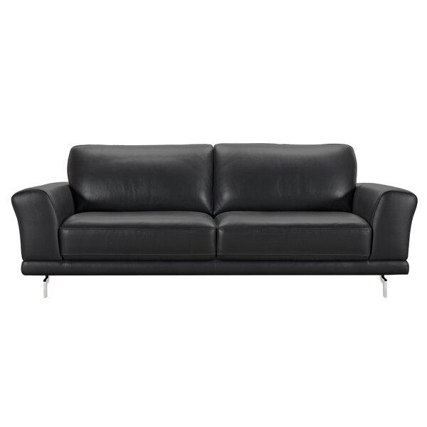 Randalholme Contemporary Leather Sofa by Orren Ellis