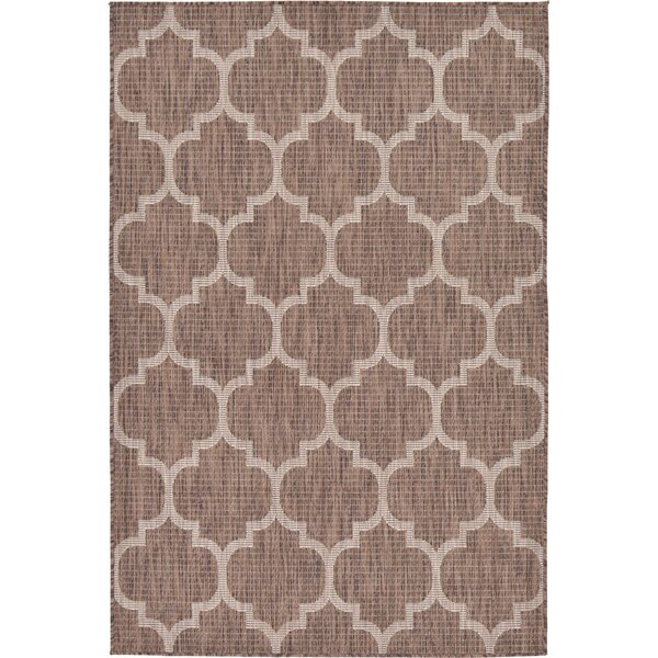 Hampstead Brown Indoor/Outdoor Area Rug by Charlton Home