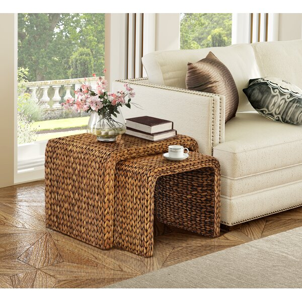 Nobles 2 Piece Nesting Tables by Beachcrest Home