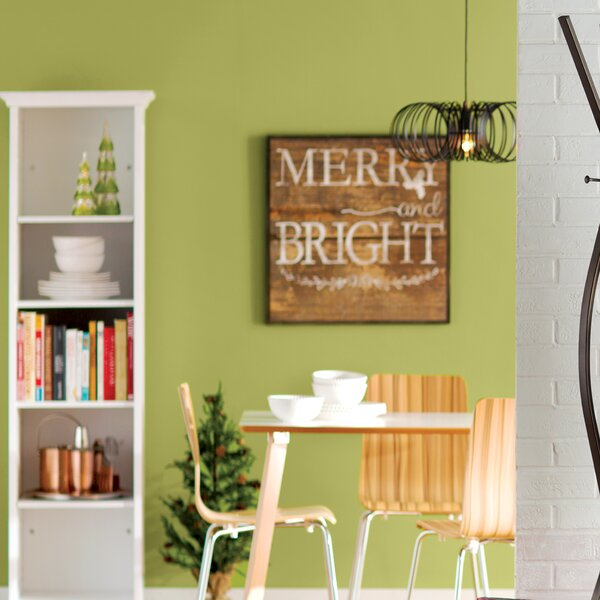 Merry and Bright Rustic Wood Inverse Framed Memorabilia by Laurel Foundry Modern Farmhouse