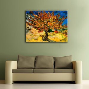 'Mulberry Tree' by Vincent Van Gogh Painting Print on Canvas by Charlton Home