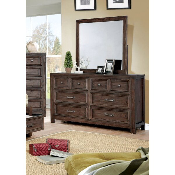 Cuvier 8 Drawer Double Dresser with Mirror by Loon Peak