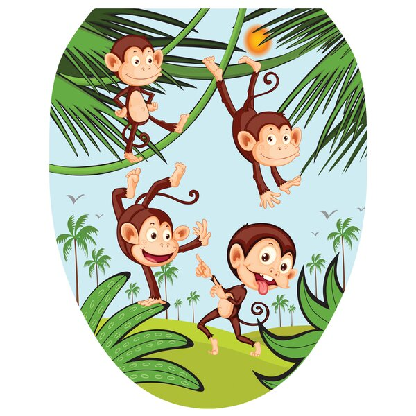 Monkey Business Toilet Seat Decal by Toilet Tattoos