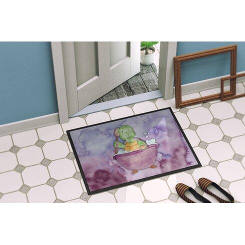Xavier Turtle Bathing Watercolor Indoor Or Outdoor Doormat