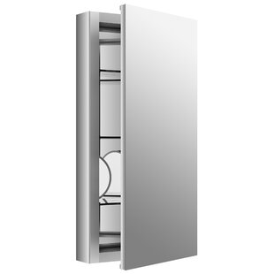 Look for Verdera 15 x 30 Aluminum Medicine Cabinet with Adjustable Magnifying Mirror and Slow-Close Door By Kohler