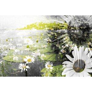 'Lillies' by Parvez Taj Painting Print on Wrapped Canvas by Parvez Taj