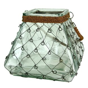 Inexpensive Glass Lantern with Handle By Breakwater Bay