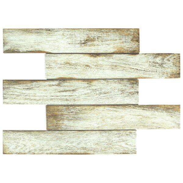 Miklos 3.13 x 17.5 Porcelain Field Tile in White by EliteTile