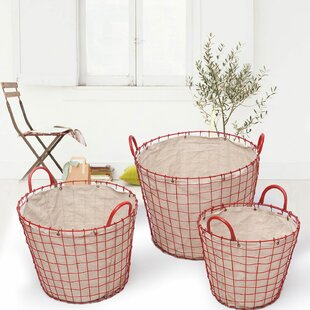 Coupon 3 Piece Oval Urban Style Laundry Set By Adeco Trading