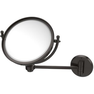 Order Wall Mounted Make-Up 4X Magnification Mirror with Groovy Detail ByAllied Brass