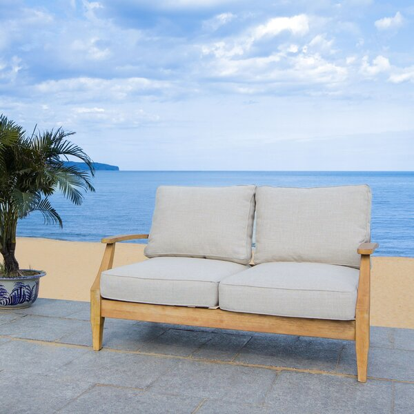 Ducan Loveseat with Sunbrella Cushions by Highland Dunes