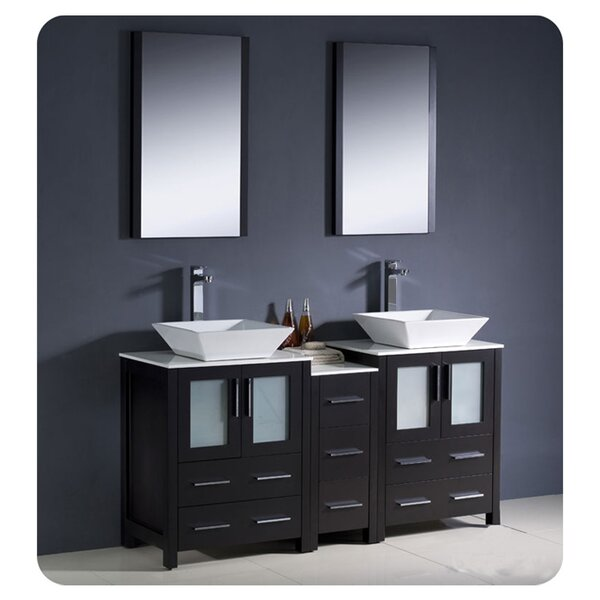 Torino 60 Double Bathroom Vanity Set with Mirror by Fresca