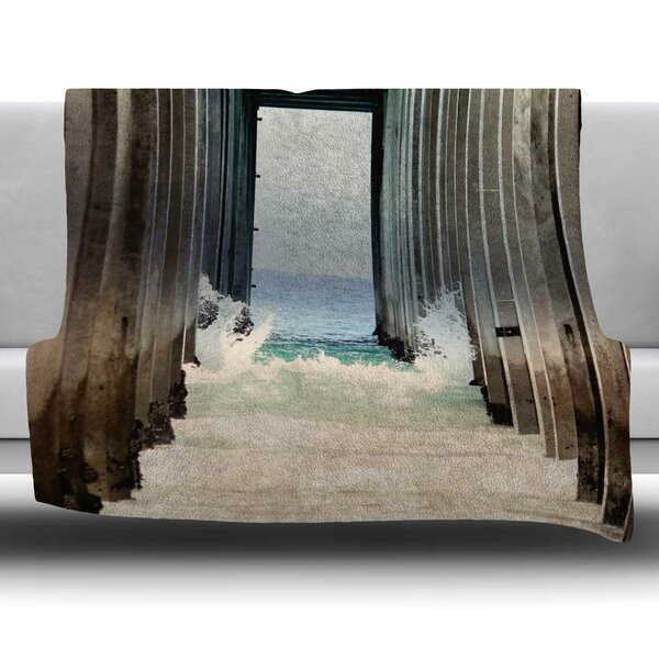 Under The Pier by Sylvia Coomes Fleece Blanket by East Urban Home