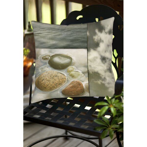 Natural Element Indoor/Outdoor Throw Pillow by Manual Woodworkers & Weavers
