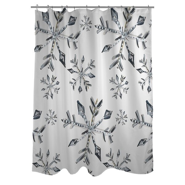 One Bella Casa Snowflake Shower Curtain