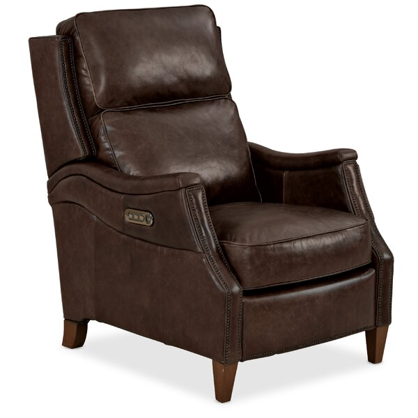 Weir Leather Power Recliner By Hooker Furniture