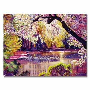 Central Park Spring Pond by David Lloyd Glover Painting Print on Wrapped Canvas by House of Hampton