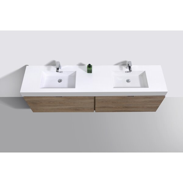 Malakai 72 Wall-Mounted Double Bathroom Vanity Set