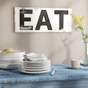 u0027EAT Typography Vintage Signu0027 Wall Art & Vintage Bathroom Wall Art | Wayfair