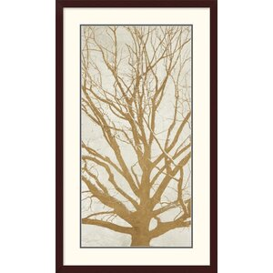 'Golden Tree II' by Aprile Framed Graphic Art by Global Gallery
