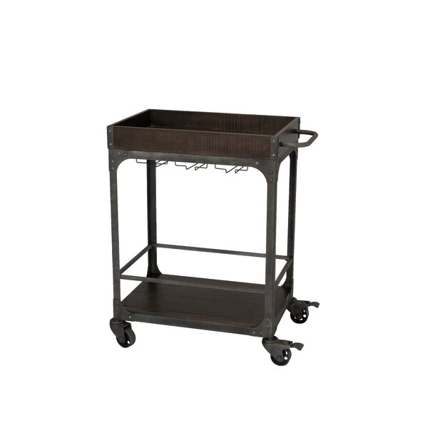 Burchett Server Bar Cart by Williston Forge Williston Forge