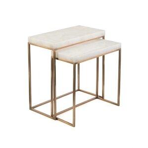 Calcite 2 Piece Nesting Tables by John Richard