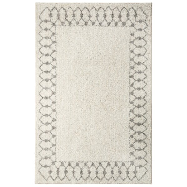 Opal Chained Border Gray Area Rug by August Grove