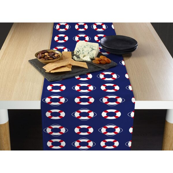 Espada Nautical Life Saver Floats Milliken Signature Table Runner by Breakwater Bay