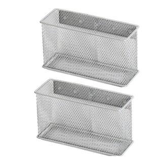 Biggerstaff Wire Mesh Magnetic Storage Basket (Set Of 2)