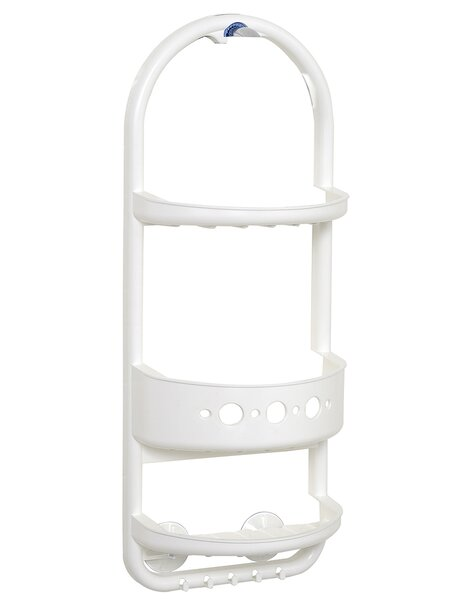 Frosted Plastic Over The Shower Caddy by Zenith Products