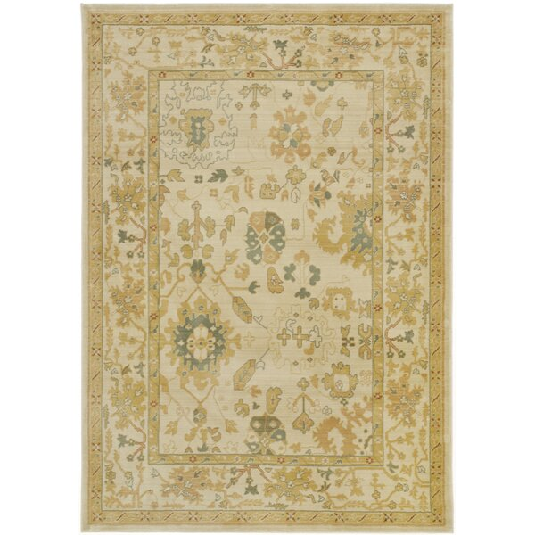 Brice Power Loom Polypropylene Winter Cream Area Rug by Lauren Ralph Lauren
