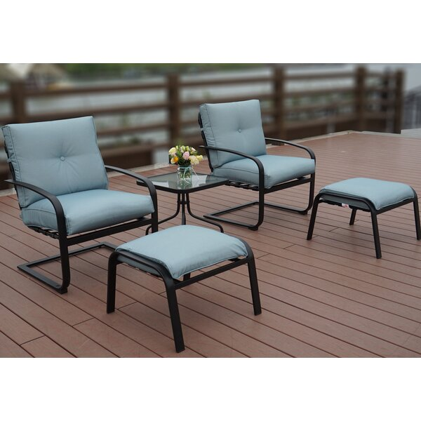 Sundorne 5 Piece 2 Person Seating Group with Cushions by Winston Porter