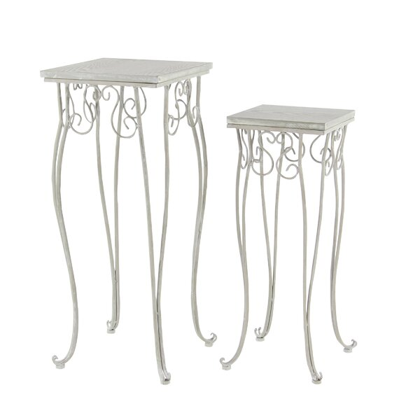 Traditional Square 2 Piece Plant Stand Set by Cole & Grey