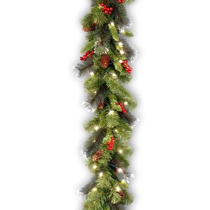 Spruce Pre-Lit Garland with 50 Clear Lights