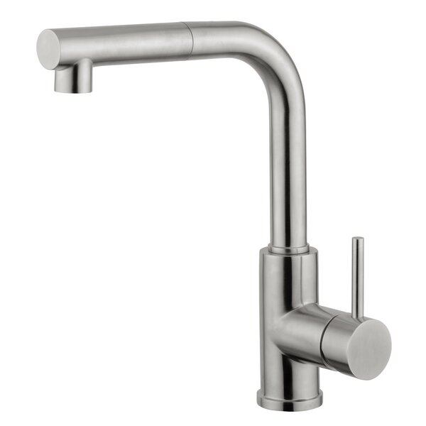 Single Handle Surface Mount Kitchen Faucet With Pull Out Handset by Andolini Home & Design