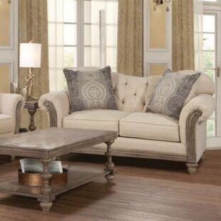 Aries Upholstery Loveseat by Ophelia & Co.