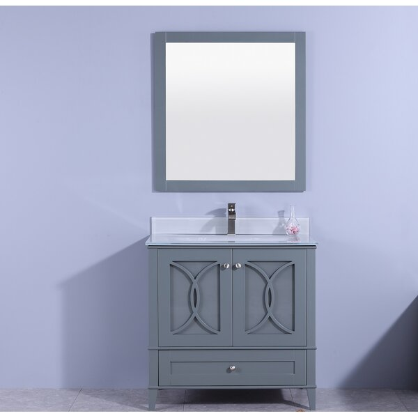Fernwood 36 Single Bathroom Vanity Set with Mirror by House of Hampton
