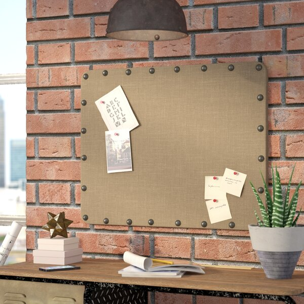 Burlap Wall Mounted Bulletin Board