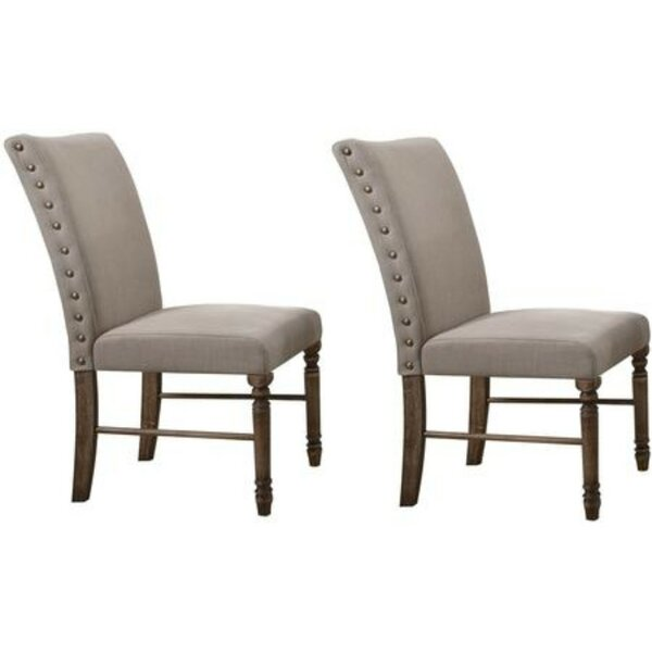 Kit Nailhead Trim Upholstered Dining Chair (Set of 2) by Alcott Hill