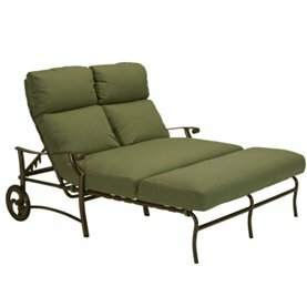 Montreux II Double Reclining Chaise Lounge with Cushion by Tropitone