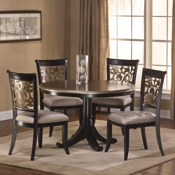Chuckanut 5 Piece Solid Wood Dining Set by Fleur De Lis Living