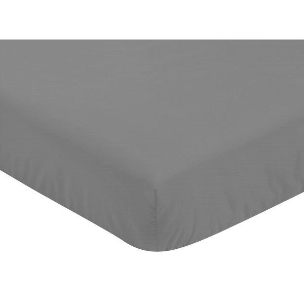 Stripe Solid Fitted Crib Sheet by Sweet Jojo Designs