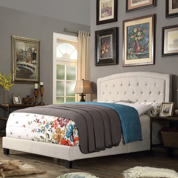 Rockaway Upholstered Panel Bed by Charlton Home