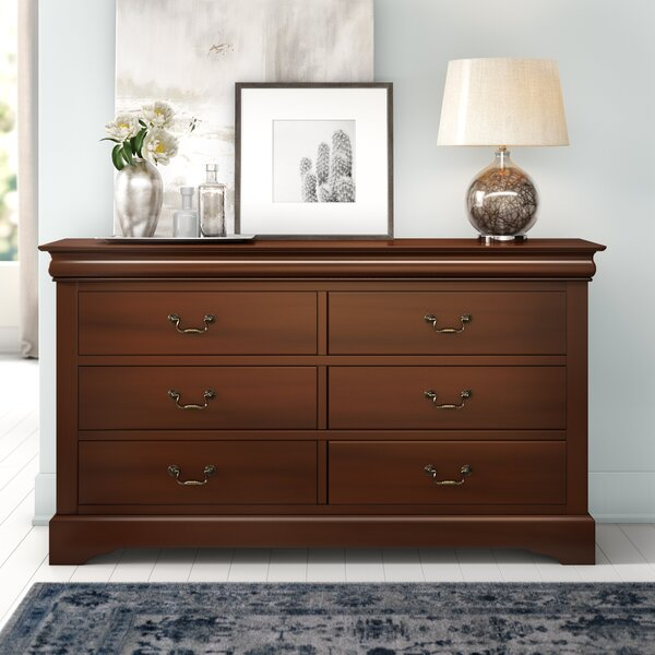 Vitiello 6 Drawer Double Dresser by Charlton Home