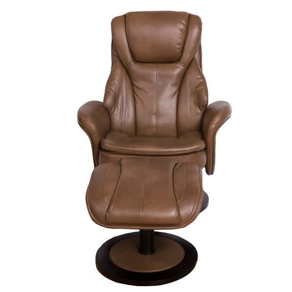 Pinero High Back Manual Swivel Recliner with Ottoman by Latitude Run